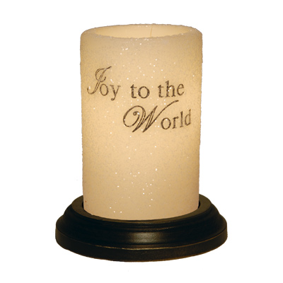 CANDLE SLEEVE - JOY TO THE WORLD (WORDS)