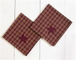 NAPKIN - BURGUNDY APPLIQUE STAR