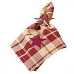 NAPKIN - BURGUNDY FARMHOUSE STAR