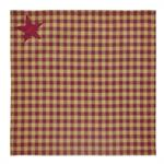 NAPKIN - BURGUNDY STAR