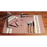 PLACEMAT - BERRY VINE - BURGUNDY