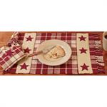 PLACEMAT - BURGUNDY FARMHOUSE STAR