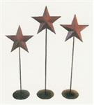 BURGUNDY PEDESTAL STAR