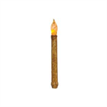CANDLE - BURNT IVORY/CINNAMON TAPER 9""