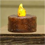 CANDLE - TEALIGHT BURNT MUSTARD W/SWITCH