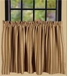 CURTAINS - TIERS KINGSTON STRIPE 36""