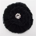 BROOCH - BLACK FLOWER 3.5^