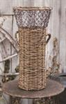 Basket - Willow, Natural, Rust