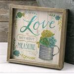 Box Sign - ^Love^ With Succulents