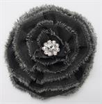 Brooch - Grey Flower, 3.5^