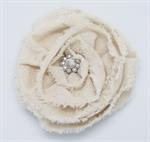 Brooch - White Flower, 4.5^