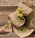 Burlap Floral Garland - Bright Green Flower