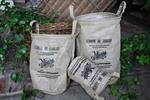 These Burlap sacks are lined with plastic - which allows ...