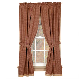 CURTAIN - PANEL BURGUNDY GRANNY'S CHECK 63'