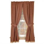 CURTAIN - PANEL BURGUNDY GRANNY'S CHECK 63^