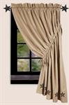 CURTAIN PANEL - LANCASTER W/BLACK STAR (RIGHT)