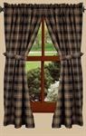CURTAIN PANEL - MILLBROOK CHECK (BLACK) 63^