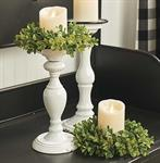 Candle Holder - Distressed White, 13^