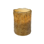 Candle Pillar - Burnt Ivory, 3X4 w/Timer