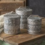 Canister - Boho Patterened, Large