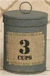 Canister - Burlap Patch, 3 Cups