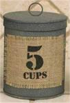 Canister - Burlap Patch, 5 Cups