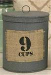 Canister - Burlap Patch, 9 Cups