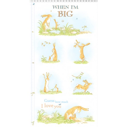 Clothworks - When I'm Big - Growth Chart 24' Panel, White