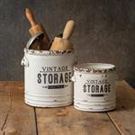 Container - Vintage Storage Container, Large