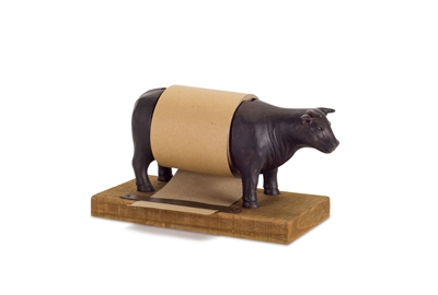 Cow Paper Roll - Brown Paper Roll on Cow