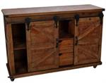 DISTRESSED CABINET - ROLLING DOOR, 47^