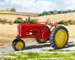 David Textiles - Four Seasons - 36^ Panel 1822 Red Tractor, Multi