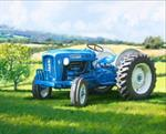 David Textiles - Four Seasons - 36^ Panel 1823 Blue Tractor, Multi
