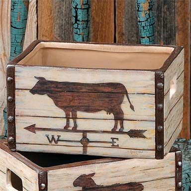 Drawer - Cow Weathervane, Ceramic