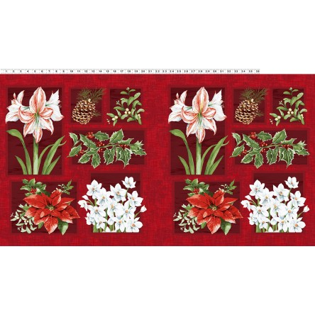 Fabric - Holidays Remembered Dk Brick