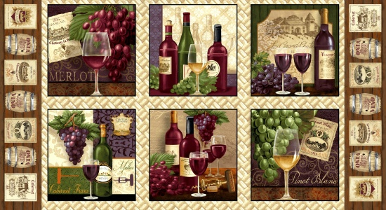 Fabric - Vineyard Valley 24' Panel