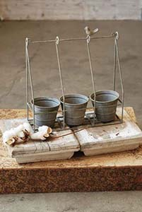 Hanging Metal Caddy With Pots