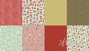 Hoffman California - All A Twitter - Carnation - 8 Continuous Fat Quarters