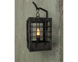 Lantern - Post Small w/Timer Candle