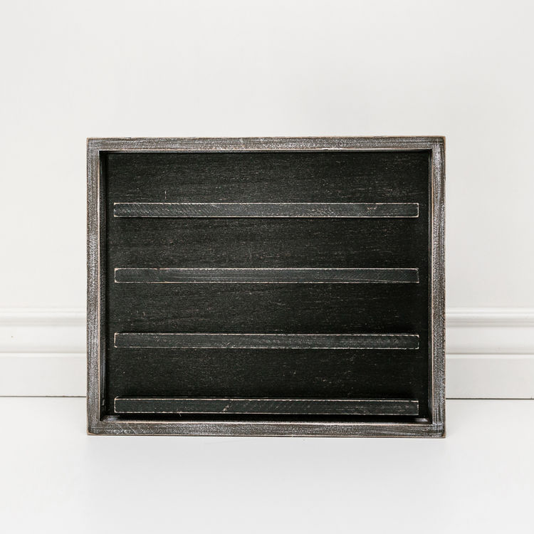 Letterboard - Black, Wood Framed