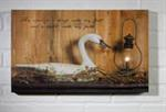 Lighted Canvas - Candlelight Lantern With Swan