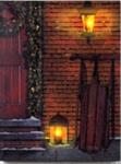 Lighted Canvas - Christmas Door