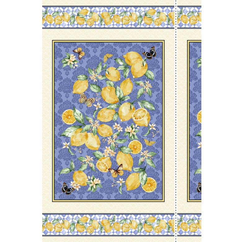 Michael Miller - Limoncello - 24' Lemon Branch Panel, Ivory