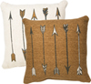 PILLOW - ARROWS, TAN
