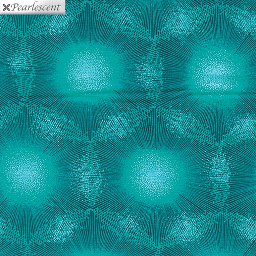 Pearl Reflections - Dandelion Dots - Dark Teal