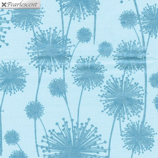 Pearl Reflections - Dandelion Shadow - Aqua/Teal