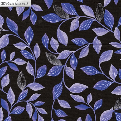 Pearl Reflections - Shimmer Leaves - Black/Purple