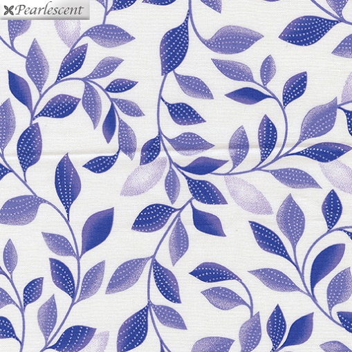 Pearl Reflections - Shimmer Leaves - White/Purple