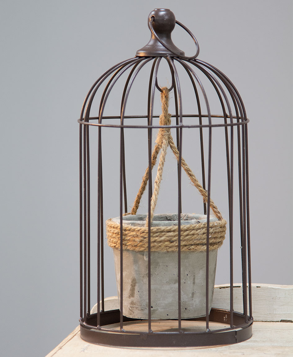 Plant Holder - Bird Cage with Plant Holder