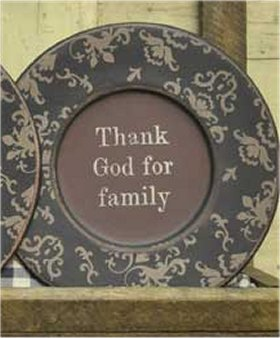 Plate - Thank God For Family, Vintage